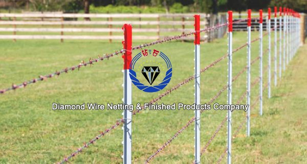 6ft Length Green Painted Galvanized Barbed Wire T Post