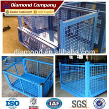Used gas cylinder removable welded galvanized metal storage cage