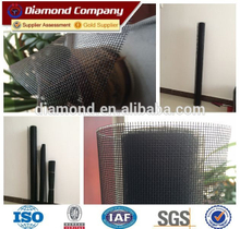 Black insect protection fiberglass window screen