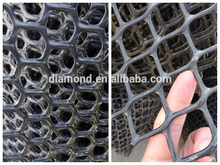 High tensile strengh wire hdpe black poultry mesh hexagonal plastic net