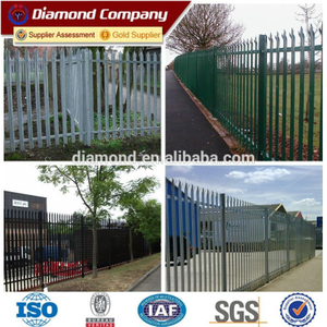 High quality low prices powder coated palisade fencing/steel galvanized palisade fencing