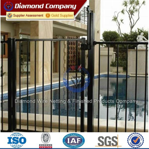 Super beautiful pvc coated ornamental wrought iron fence/cheap wrought iron fence