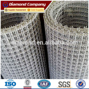 Plain woven ss 304 stainless steel crimped wire mesh with 25mm hole