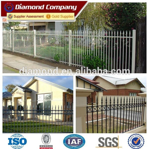 Domestic design of metal steel fence/powder coated used wrought iron fencing for sale