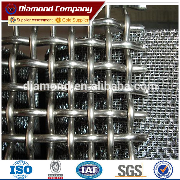 abrasion resistance high carbon steel 65Mn crimped wire mesh