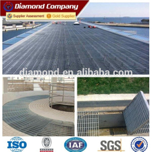 Galvanized industrial steel grating size