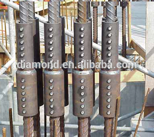 High efficient reinforcing bar coupler/no thread coupler/lockshear bolts for repair buildings
