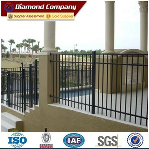 Manufacturers wholesale wrought iron fence/wrought iron ornaments fencing/cast aluminium pyramid fence post caps 3.5