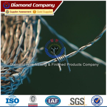 2014 Modern security fencing barbed wire/barbed wire price per ton making