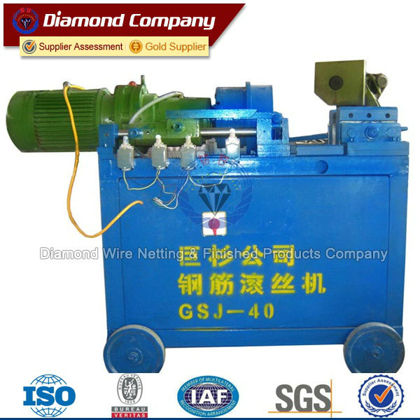 rebar thread rolling machine for bar splicing,steel bar threading machine, automatic thread rolling machine