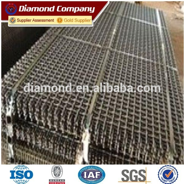 hook mining screen mesh /stone crusher screen mesh / screen mesh factory