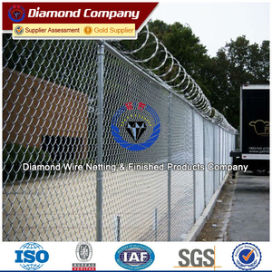 galvanized chain link fence( diamond wire mesh)