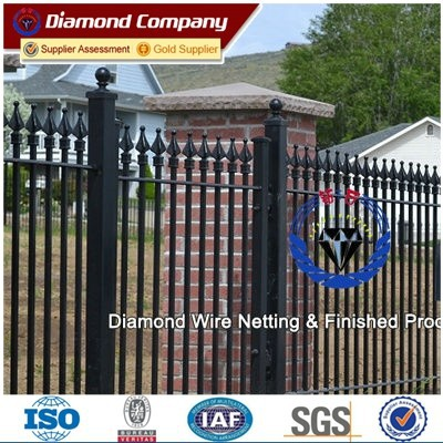 Top-selling hand-forged ornamental cast iron fence finials/ornamental wrought iron fence price