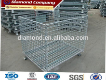 ISO quality wire mesh container/wire container storage cage/Metal cage storage container